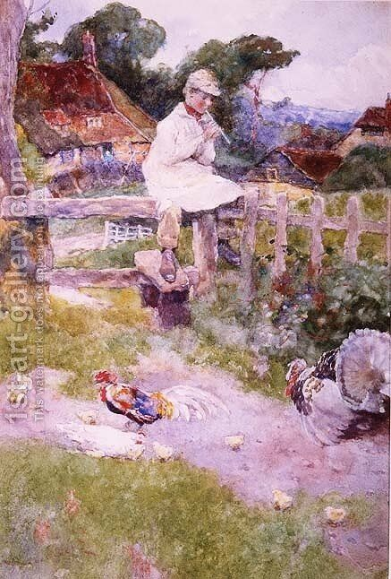 The Farmers Boy by David Woodlock - Reproduction Oil Painting