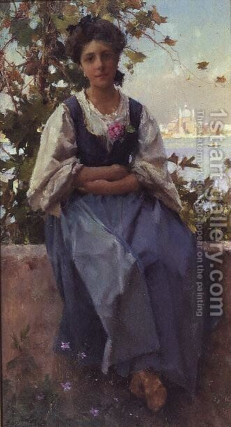 Rosina by Henry Woods - Reproduction Oil Painting