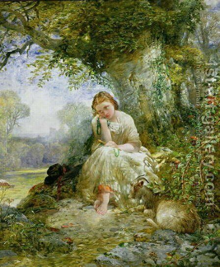 A Place for Reflection by Alfred Woolmer - Reproduction Oil Painting