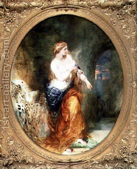 Lady Godiva, 1856 by Alfred Woolmer - Reproduction Oil Painting