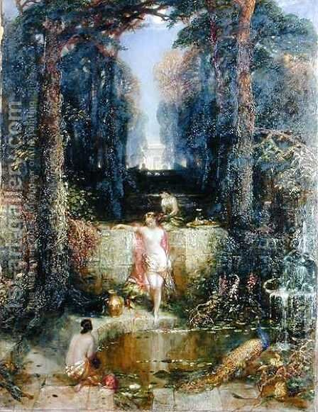 The Bathers by Alfred Woolmer - Reproduction Oil Painting