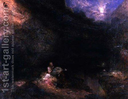 Scene from the Tempest by Alfred Woolmer - Reproduction Oil Painting