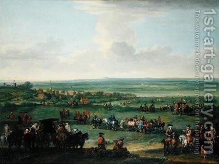 George I (1660-1727) at Newmarket, 4th-5th October 1717, c.1717 by John Wootton - Reproduction Oil Painting