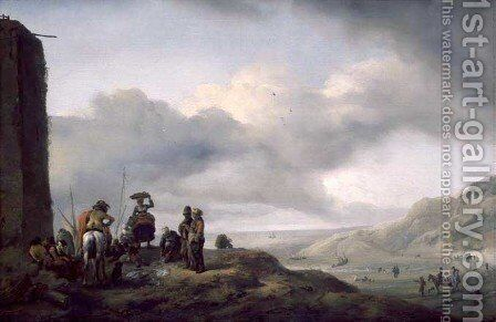 The Day's Catch by Philips Wouwerman - Reproduction Oil Painting