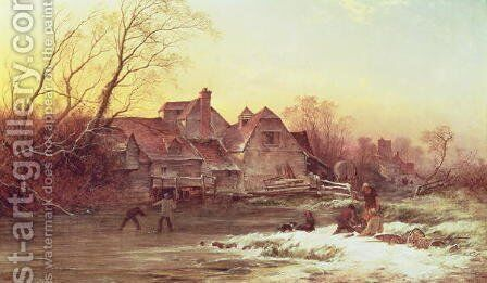 Winter Scene by Philips Wouwerman - Reproduction Oil Painting