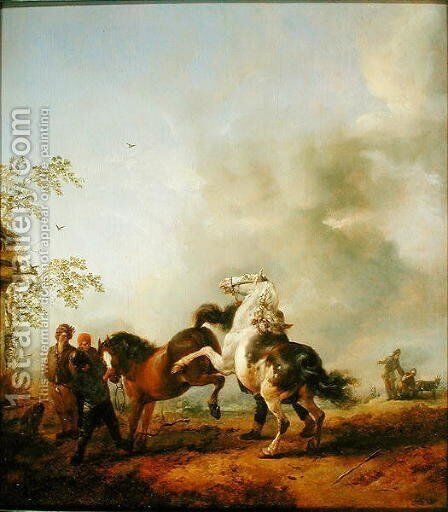 The Stallion by Philips Wouwerman - Reproduction Oil Painting