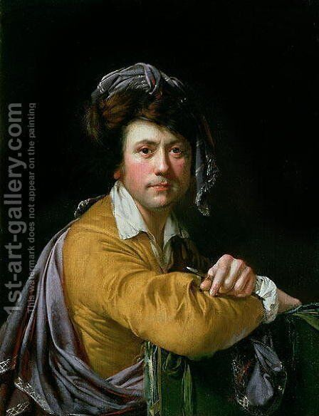 Self Portrait at the age of about Forty, c.1772-3 by Josepf Wright Of Derby - Reproduction Oil Painting