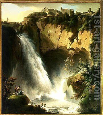 The Falls of Tivoli by Michael Wutky - Reproduction Oil Painting