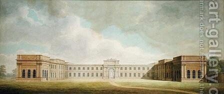 Perspective view of the Kitchen Court, 1815 by Benjamin Dean Wyatt - Reproduction Oil Painting