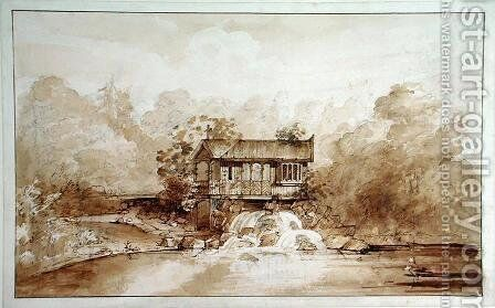 Design for the Hermitage, Virginia Water by Sir Jeffry Wyatville - Reproduction Oil Painting