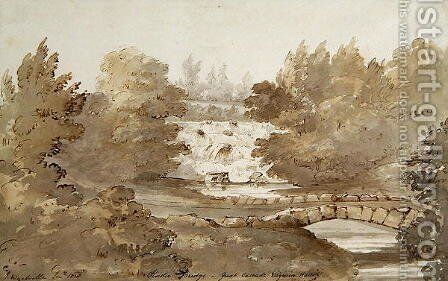Design for Rustic Bridge below the Cascade, Virginia Water by Sir Jeffry Wyatville - Reproduction Oil Painting