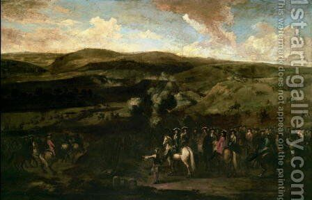 King William III at the Battle of the Boyne, 1st July 1690 by Jan Wyck - Reproduction Oil Painting