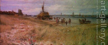 Coastal Scene by Charles William Wyllie - Reproduction Oil Painting