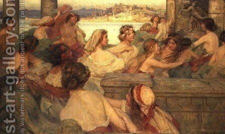 The Golden Age of Youth by Charles William Wyllie - Reproduction Oil Painting