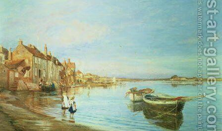 All on a Summers Day, at Bosham, Sussex, 1888 by Charles William Wyllie - Reproduction Oil Painting