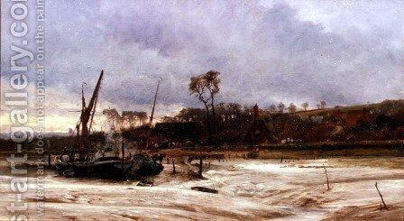 Rainham Quay by Charles William Wyllie - Reproduction Oil Painting