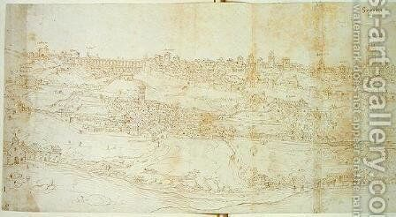 View of Segovia by Anthonis van den Wyngaerde - Reproduction Oil Painting