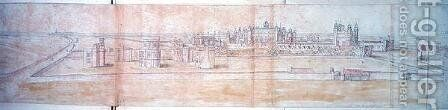 Hampton Court, 1556 by Anthonis van den Wyngaerde - Reproduction Oil Painting