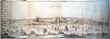 Panoramic View of Brussels 4 by Anthonis van den Wyngaerde - Reproduction Oil Painting
