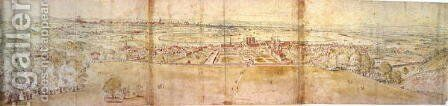 Greenwich Palace and London from Greenwich Hill, from 'The Panorama of London', c.1544 by Anthonis van den Wyngaerde - Reproduction Oil Painting