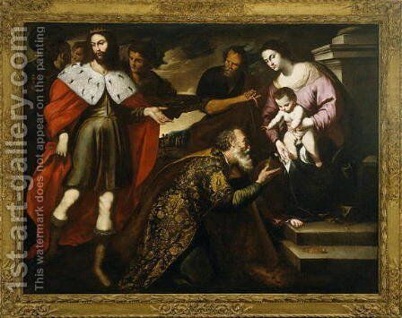 Adoration of the Magi, 1650s by Andrea Vaccaro - Reproduction Oil Painting