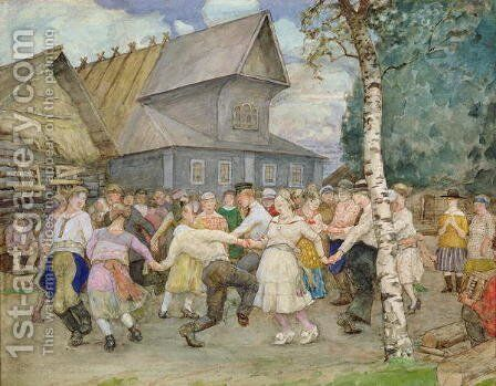 Country Dance, 1917-22 by Alexander Vakhrameyev - Reproduction Oil Painting