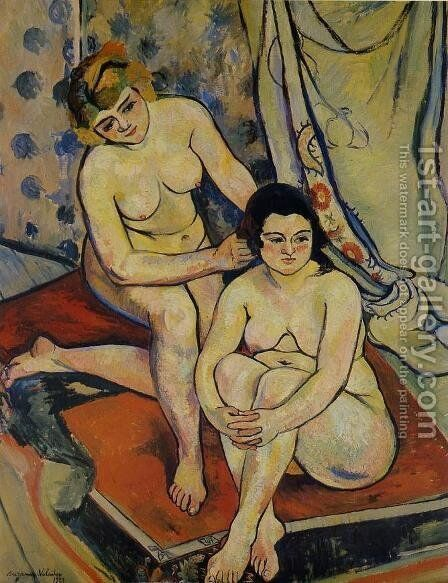 The Two Bathers, 1923 by Suzanne Valadon - Reproduction Oil Painting