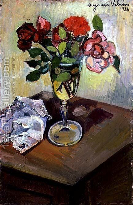 Roses in a Glass, 1926 by Suzanne Valadon - Reproduction Oil Painting