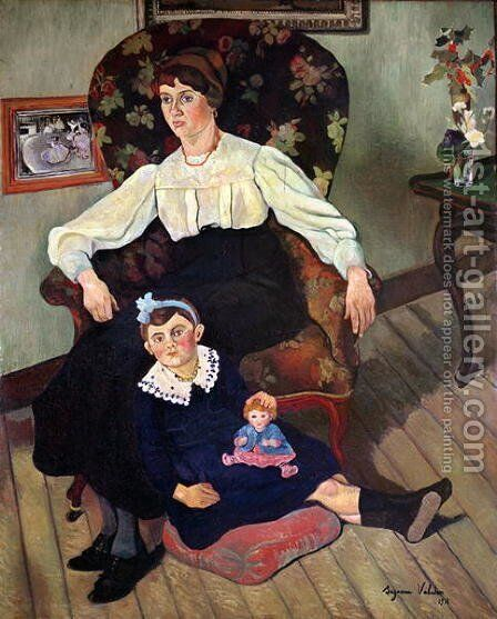Portrait of Marie Coca and her Daughter, 1913 by Suzanne Valadon - Reproduction Oil Painting