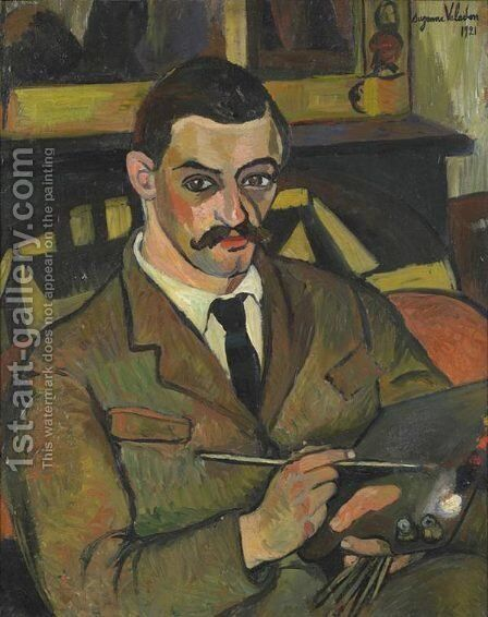 Portrait of Maurice Utrillo (1883-1955) 1921 by Suzanne Valadon - Reproduction Oil Painting