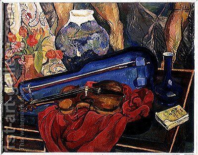 The Violin Case, 1923 by Suzanne Valadon - Reproduction Oil Painting
