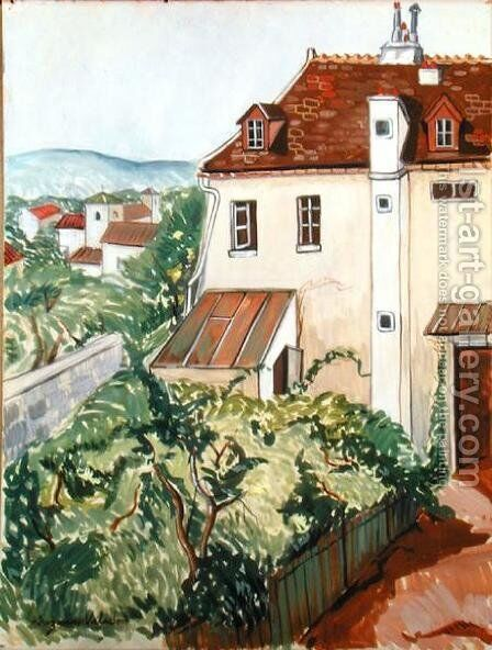 View of a Garden by Suzanne Valadon - Reproduction Oil Painting