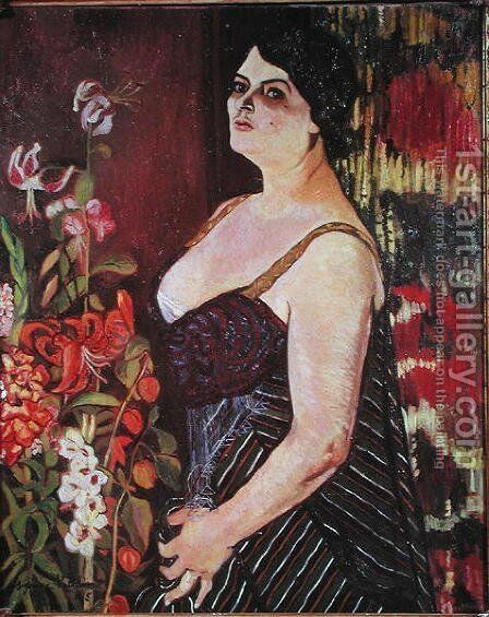 Portrait of Madame Coquiot, 1918 by Suzanne Valadon - Reproduction Oil Painting