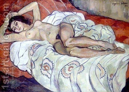 Nude Female Reclining, 1922 by Suzanne Valadon - Reproduction Oil Painting