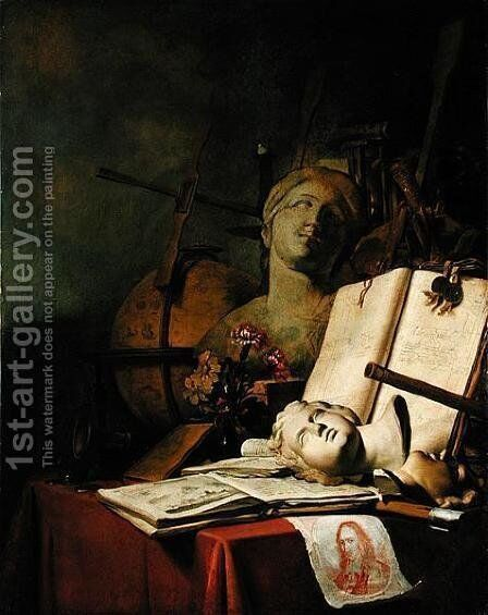 The Transience of All Earthly Things (Vanitas), c.1660 by Adriaen de Valck - Reproduction Oil Painting