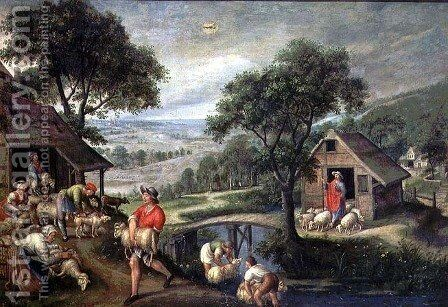 Parable of the Good Shepherd, c.1580-90 by Marten Van Valckenborch I - Reproduction Oil Painting