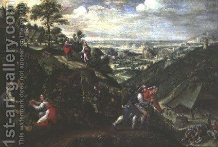 Parable of the Labourers in the Vineyard, c.1580-90 by Marten Van Valckenborch I - Reproduction Oil Painting