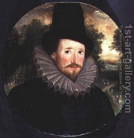 Portrait of a man in a hat by Marten Van Valckenborch I - Reproduction Oil Painting