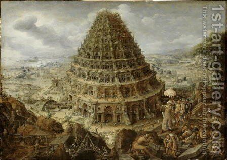 The Building of the Tower of Babel, 1595 by Marten Van Valckenborch I - Reproduction Oil Painting