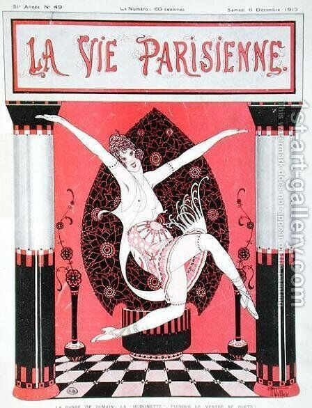 The arrival of the 'Bedonette' dance, front cover of La Vie Parisienne, 6th December, 1913 by Armand Vallee - Reproduction Oil Painting