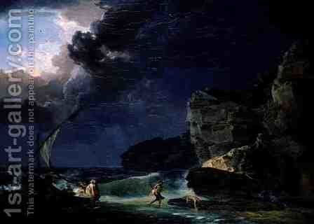 The Wreck, 1795 by Jacques-Antoine Vallin - Reproduction Oil Painting
