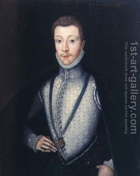 Portrait of Henry Stewart, Earl of Darnley (1545-67) by Adrian Vanson - Reproduction Oil Painting