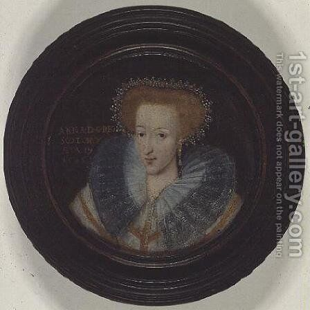 Queen Anne of Denmark (1574-1619), wife of James VI of Scotland and I of England and Ireland (1566-1625), 1595 by Adrian Vanson - Reproduction Oil Painting