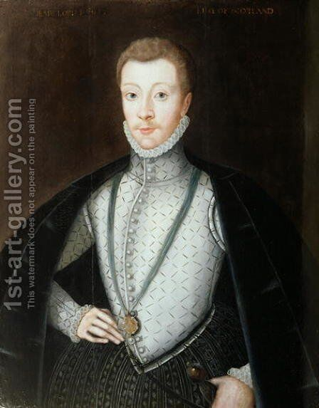 Portrait of Henry Stewart, Earl of Darnley (1545-67) 2 by Adrian Vanson - Reproduction Oil Painting