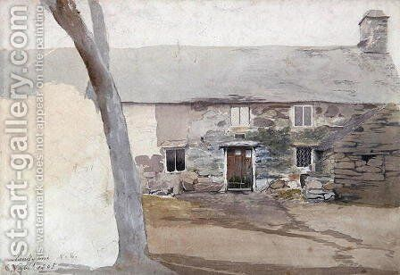 Cottages at Llanllyfni, North Wales, 1805 by Cornelius Varley - Reproduction Oil Painting