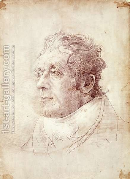 Portrait of J.M.W. Turner by Cornelius Varley - Reproduction Oil Painting