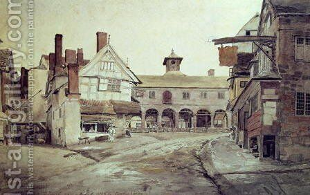 Market Place, Hereford, 1803 by Cornelius Varley - Reproduction Oil Painting