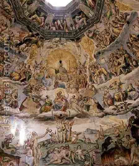 The Last Judgement, detail from the cupola of the Duomo, 1572-79 5 by Giorgio Vasari - Reproduction Oil Painting