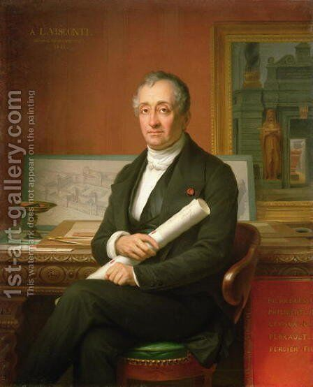 Ennio Quirino Visconti (1751-1818) 1854 by Theophile Auguste Vauchelet - Reproduction Oil Painting