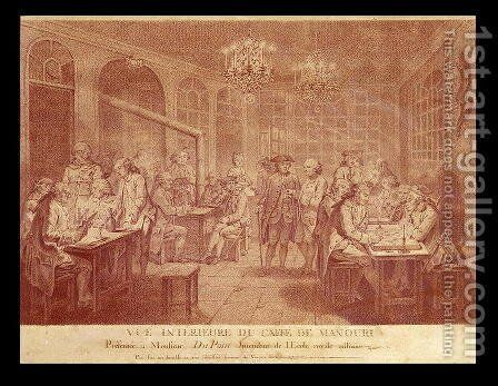 Interior of the Cafe Manouri, c.1775 by Jacques Treton de Vaujas - Reproduction Oil Painting